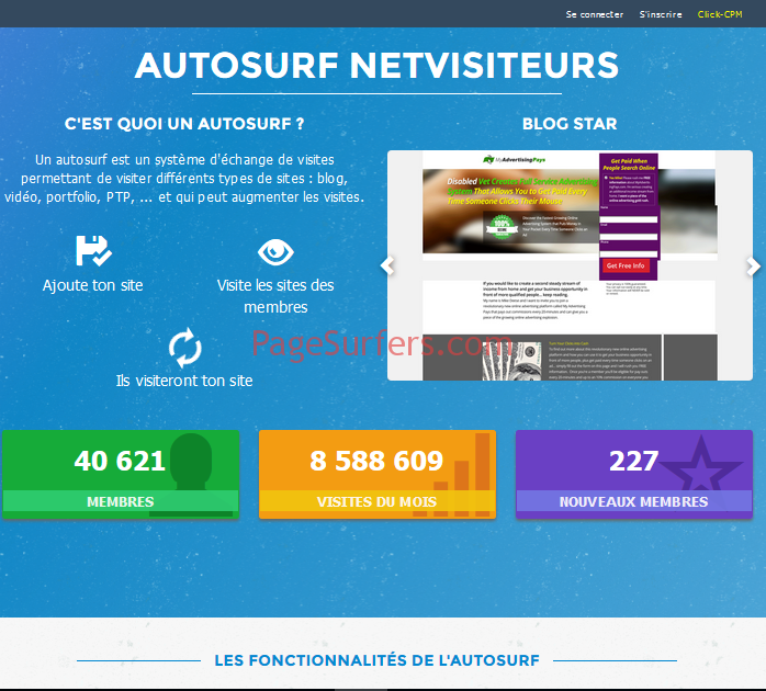 Netvisiteurs Main Page